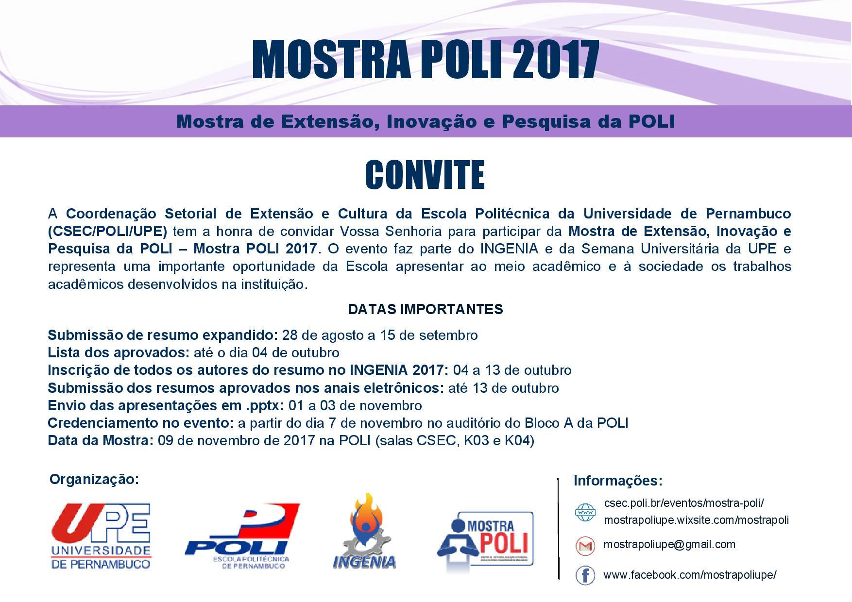 Convite_Mostra-Poli_Datas Importantes img