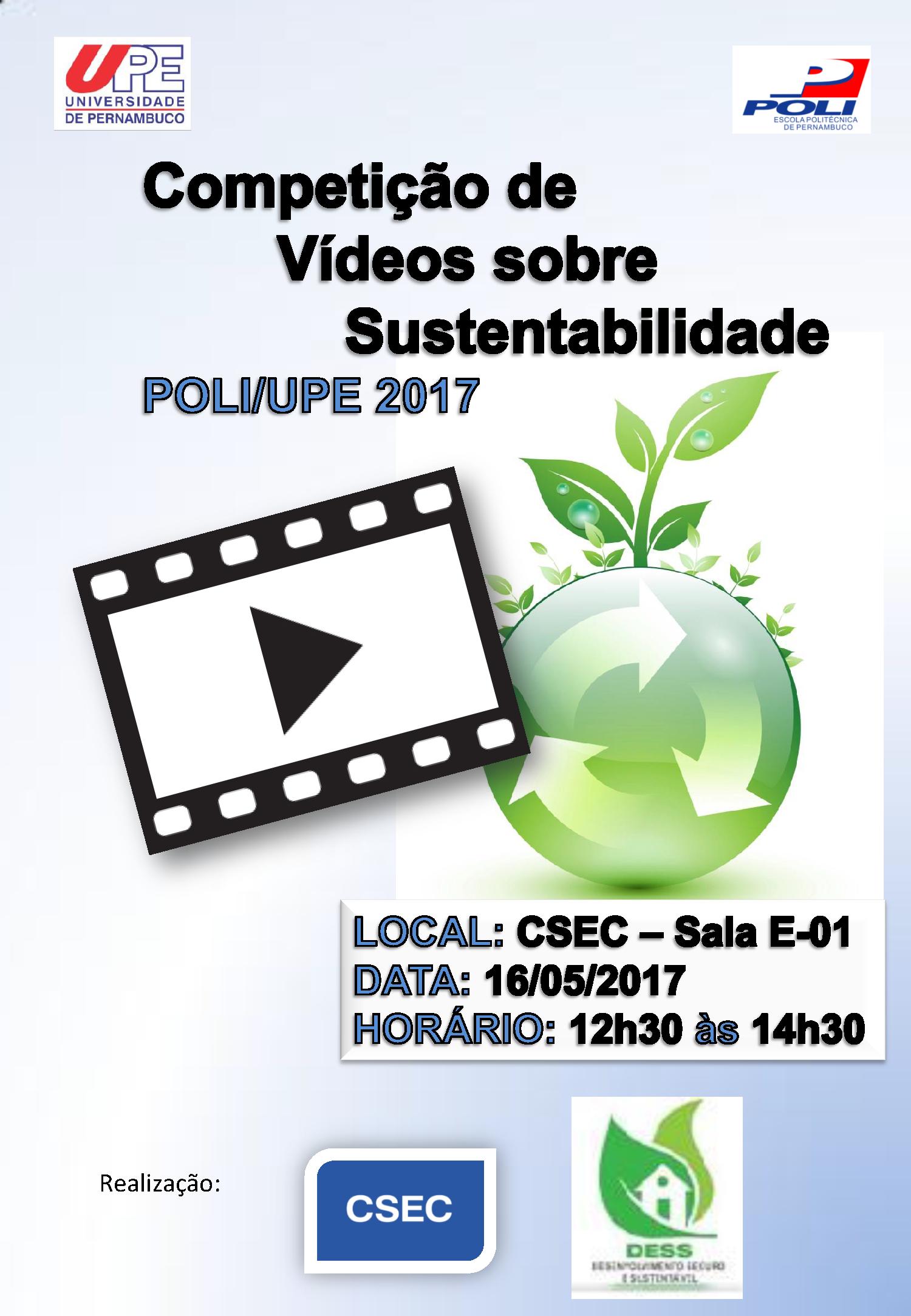 5ª Competição de Vídeos sobre Sustentabilidade