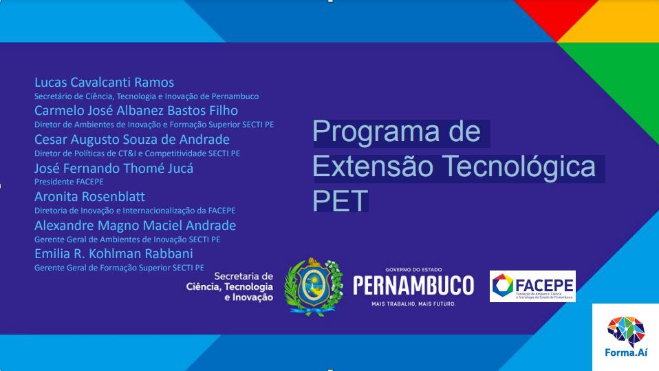 Programa de Extensão Tecnológica PET