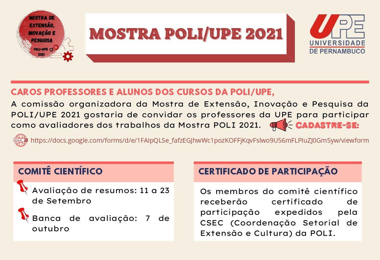 Mostra Poli/UPE 2021