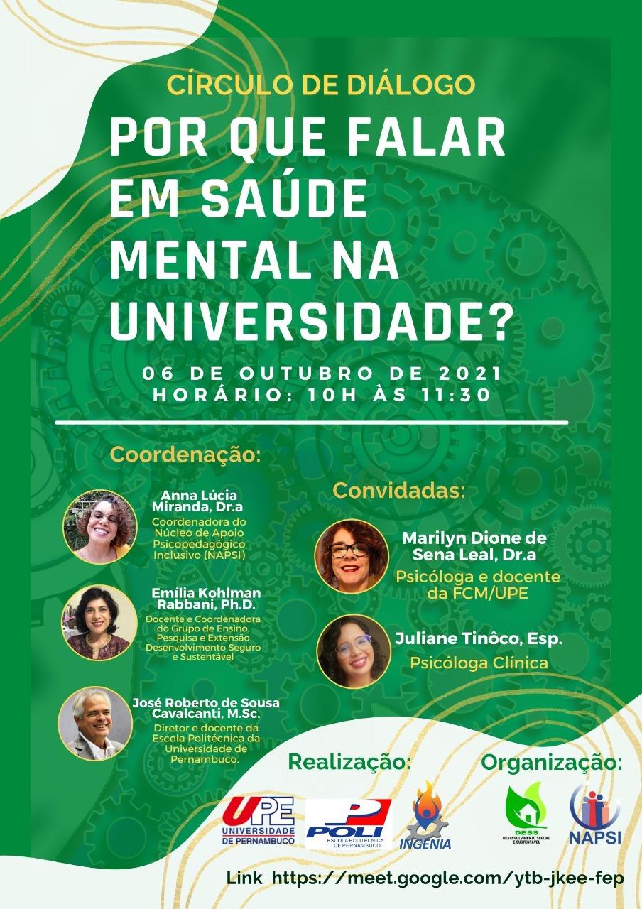 Círculo de Diálogo – Por que Falar em Saúde Mental na Universidade?